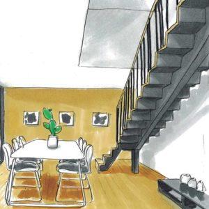 Escalier modèle ply vue arrière